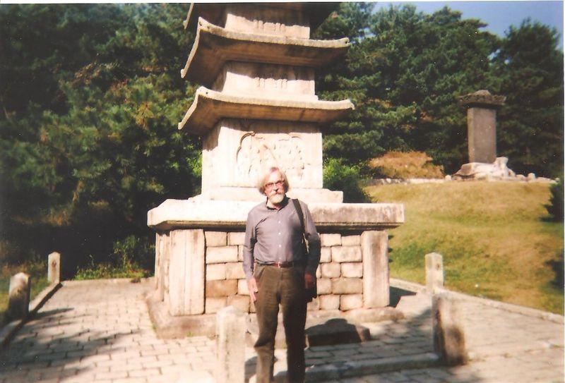 By pagoda in Kaesong, North Korea 001
